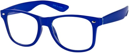 Angle of SW Clear Retro Style #8912 in Royal Blue Frame, Women's and Men's