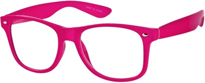 Angle of SW Clear Retro Style #8912 in Hot Pink Frame, Women's and Men's