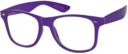 Angle of SW Clear Retro Style #8912 in Purple Frame, Women's and Men's