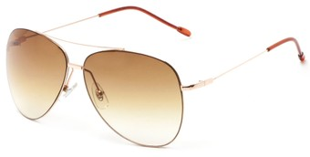 Angle of Scoresby #2268 in Gold/Brown Frame with Amber Gradient Lenses, Women's and Men's Aviator Sunglasses
