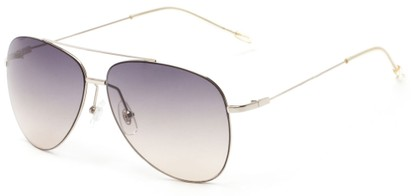 Angle of Scoresby #2268 in Silver Frame with Smoke Gradient Lenses, Women's and Men's Aviator Sunglasses