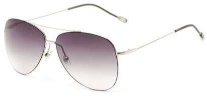 Angle of Scoresby #2268 in Silver/Grey Frame with Smoke Gradient Lenses, Women's and Men's Aviator Sunglasses