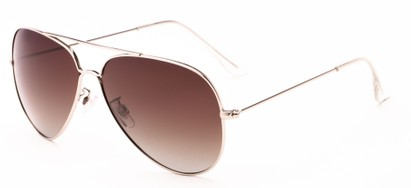 Angle of Crest #2269 in Silver Frame with Gradient Amber Lenses, Women's and Men's Aviator Sunglasses