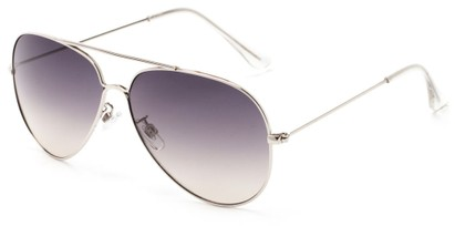 Angle of Watershed #9622 in Silver Frame with Smoke Lenses, Women's and Men's Aviator Sunglasses