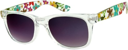 Angle of SW Retro Style #217 in Clear with Flowers, Women's and Men's