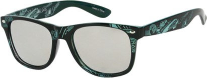 Angle of SW Mirrored Tribal Style #526 in Black/Blue Frame, Women's and Men's