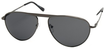 Angle of SW Celebrity Style #2420 in Grey Frame with Dark Smoke Lenses, Women's and Men's
