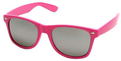 Angle of SW Mirrored Retro Style #2430 in Pink Frame, Women's and Men's