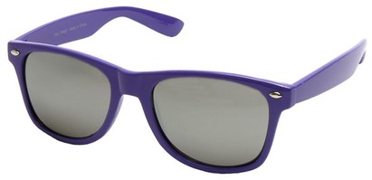Angle of SW Mirrored Retro Style #2430 in Purple Frame, Women's and Men's