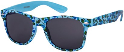 Angle of SW Floral Retro Style #2434 in Blue/Green Floral, Women's and Men's