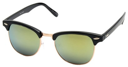 Angle of SW Fashion Style #1602 in Black and Gold Frame, Women's and Men's
