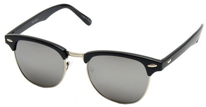 Angle of SW Fashion Style #1602 in Black and Silver Frame, Women's and Men's