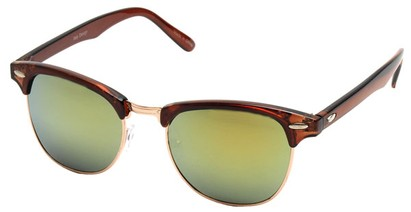 Angle of SW Fashion Style #1602 in Brown and Gold Frame, Women's and Men's