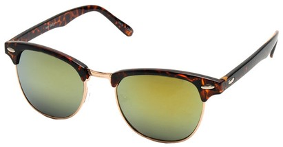 Angle of SW Fashion Style #1602 in Tortoise and Gold Frame, Women's and Men's