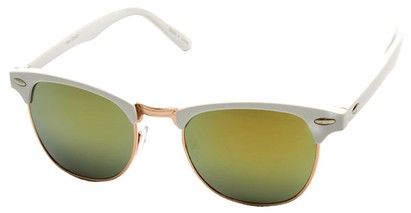 Angle of SW Fashion Style #1602 in White and Gold Frame, Women's and Men's