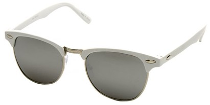 Angle of SW Fashion Style #1602 in White and Silver Frame, Women's and Men's