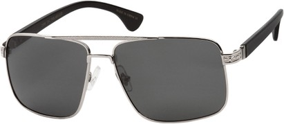 Squared Polarized Aviator Sunglasses
