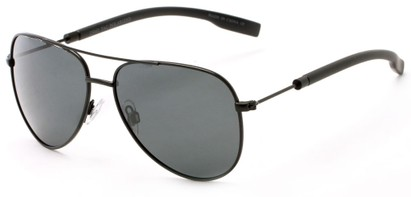 Angle of Havel #2506 in Black Frame with Grey Lenses, Women's and Men's Aviator Sunglasses