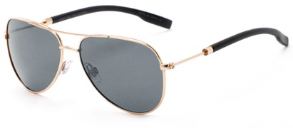 Angle of Havel #2506 in Gold Frame with Green Lenses, Women's and Men's Aviator Sunglasses
