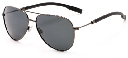 Angle of Havel #2506 in Grey Frame with Grey Lenses, Women's and Men's Aviator Sunglasses