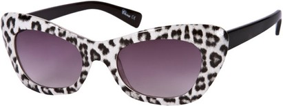 Angle of SW Animal Print Retro Style #280 in White/Black Frame, Women's and Men's