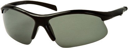 Angle of Runner #7677 in Glossy Black Frame, Women's and Men's Sport & Wrap-Around Sunglasses
