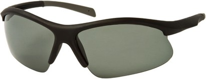 Angle of Runner #7677 in Matte Black/Grey Frame, Women's and Men's Sport & Wrap-Around Sunglasses