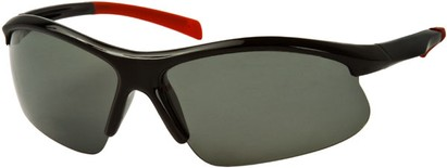 Angle of Runner #7677 in Glossy Black/Red Frame, Women's and Men's Sport & Wrap-Around Sunglasses