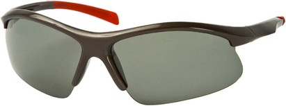 Angle of Runner #7677 in Grey/Red Frame, Women's and Men's Sport & Wrap-Around Sunglasses