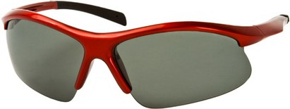 Angle of Runner #7677 in Red/Black Frame, Women's and Men's Sport & Wrap-Around Sunglasses