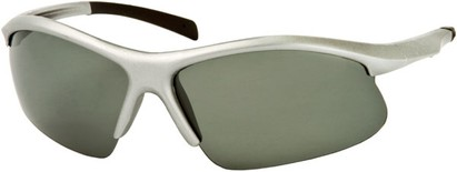 Angle of Runner #7677 in Silver/Black Frame, Women's and Men's Sport & Wrap-Around Sunglasses