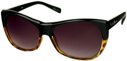 Angle of SW Two-Tone Cat Eye Style #2785 in Black/Brown Tortoise Frame, Women's and Men's