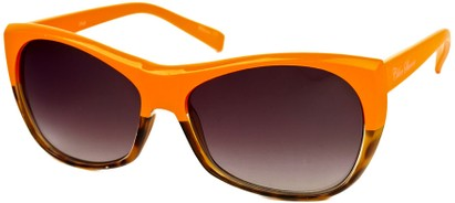 Angle of SW Two-Tone Cat Eye Style #2785 in Orange/Brown Tortoise Frame, Women's and Men's