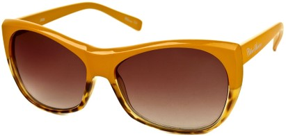 Angle of SW Two-Tone Cat Eye Style #2785 in Yellow/Brown Tortoise Frame, Women's and Men's