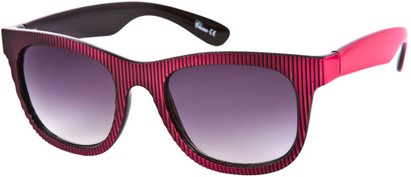 Angle of SW Striped Retro Style #109 in Black/Pink, Women's and Men's