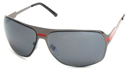 Angle of SW Aviator Style #5078 in Grey and Red Frame, Women's and Men's