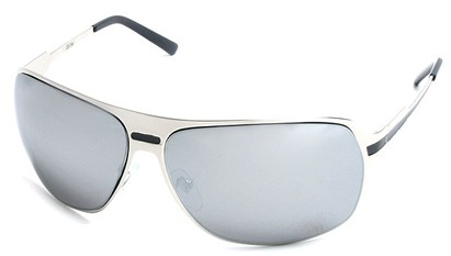 Angle of SW Aviator Style #5078 in Silver Frame with Mirrored Lenses, Women's and Men's