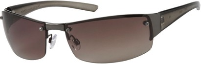 Angle of Bombay #9775 in Grey Frame, Women's and Men's Square Sunglasses