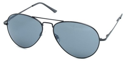Angle of Jetsetter #1192 in Black Frame, Women's and Men's Aviator Sunglasses