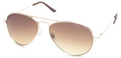 Angle of Jetsetter #1192 in Gold Frame with Gold Lenses, Women's and Men's Aviator Sunglasses