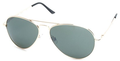 Angle of Jetsetter #1192 in Gold Frame with Green Lenses, Women's and Men's Aviator Sunglasses