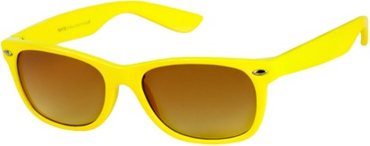 Angle of SW Neon Retro Style #1610 in Yellow Frame, Women's and Men's