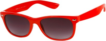 Angle of SW Neon Retro Style #1610 in Red Frame, Women's and Men's