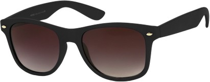 Angle of Rookie #9970 in Black, Women's and Men's Retro Square Sunglasses
