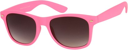 Angle of Rookie #9970 in Pink, Women's and Men's Retro Square Sunglasses