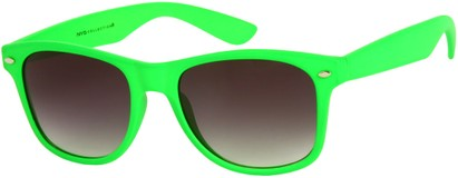Angle of Rookie #9970 in Lime Green, Women's and Men's Retro Square Sunglasses