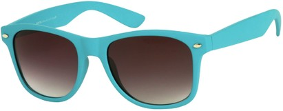 Angle of Rookie #9970 in Sea Blue, Women's and Men's Retro Square Sunglasses