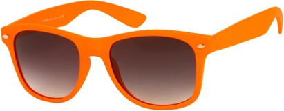 Angle of Rookie #9970 in Bright Orange, Women's and Men's Retro Square Sunglasses