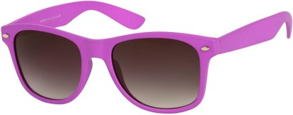 Angle of Rookie #9970 in Purple, Women's and Men's Retro Square Sunglasses