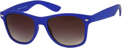 Angle of Rookie #9970 in Cobalt Blue, Women's and Men's Retro Square Sunglasses